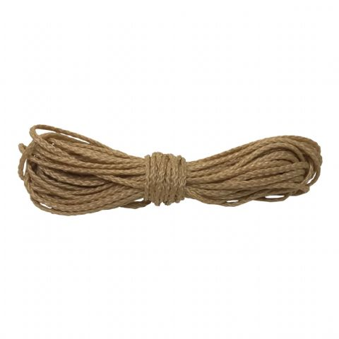 2.00mm Synthetic Braided Rope 21ft (6.40mtrs) long in a beige colour